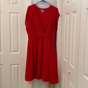 Cato's red dress